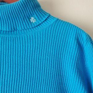 Sweaters - 💥Lauren Ralph Lauren Blue Ribbed Tuetleneck💥